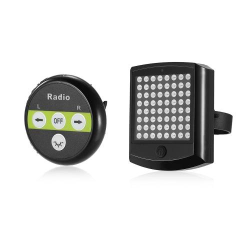 64 LED Bike Warnung Rücklicht Sicherheit Warnlampe Fahrrad Radfahren Turn Licht Wireless Remote Bike Blinker Licht