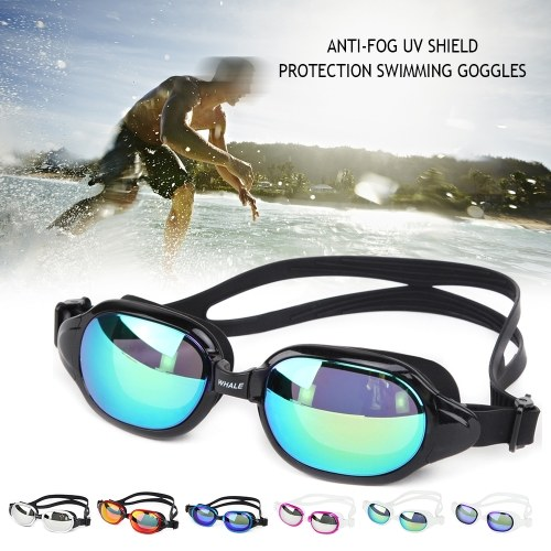 Adjustable Swimming Glass Water Resistant Anti-fog UV Shield Protection Swimming Goggles Adult Glasses with Box