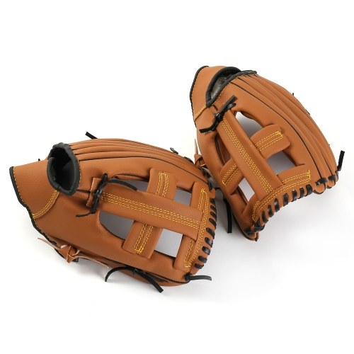 Infield Pitcher Baseball Gloves Leather Brown Outdoor Sports Softball Gloves