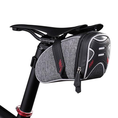 Image of Fahrrad Radfahren Satteltasche Portable Sattel Post Tasche Rennrad MTB Radfahren Sattel Tasche Fahrrad Aufbewahrungstasche