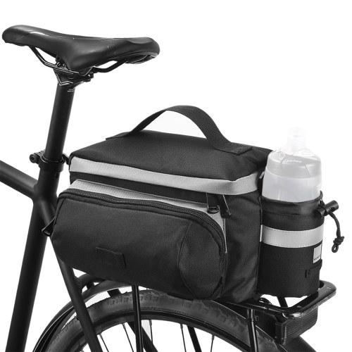 Bolsa de tronco de assento traseiro de bicicleta 13L com suporte para copos Bolsa de cestos traseiros de grande capacidade Bolsa de selim traseira reflexiva Bolsa de bicicleta de estrada MTB Bolsa de armazenamento de bicicleta Bolsa de mão Acessórios de bicicleta