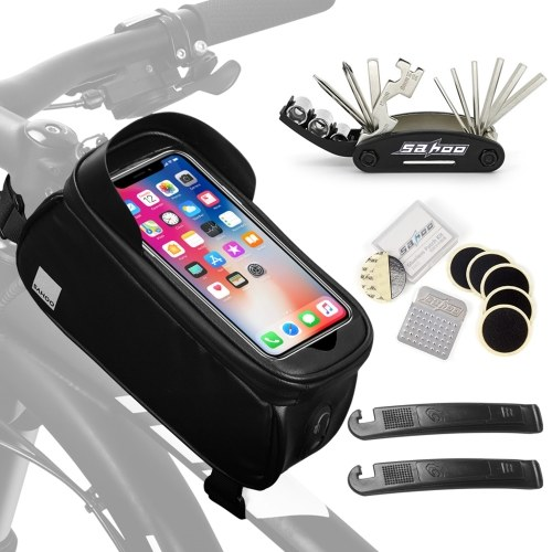 Portable Touch Screen Bike Repair Bag Waterproof Phone Bag Image