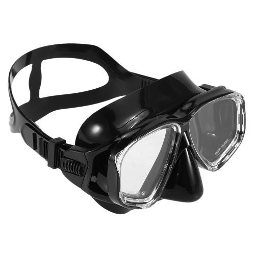 Lixada Adults Freediving Mask Anti-fog Diving Snorkeling Scuba Swimming Mask Tempered Glass Lens Goggles for Men Women