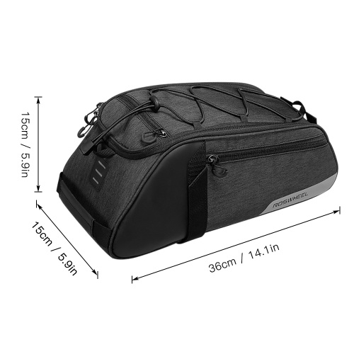 Bike Rack Bag Water Repellent Cycling Bike Rear Seat Bag Bike Trunk Cargo Pack Road Bike Carrier Bag Image