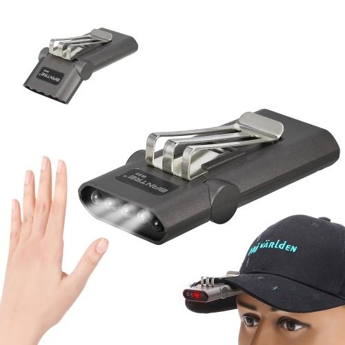 Farol Recarregável de Mãos Livres com Clip Cap Light