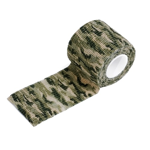 1 Roll Mini Outdoor M-ilitary Camouflage H-unting Camping Cycling W-rap Elastic Stealth Tape Portable