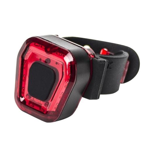 USB аккумуляторный задний фонарь для велосипеда светодиодный задний фонарь для велосипеда 5 режимов освещения Встроенный аккумулятор емкостью 300 мАч Велосипедный защитный свет