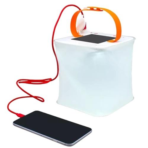 Tragbare Solar Aufblasbare Laterne Licht USB-Telefon Ladegerät 4 Beleuchtungsmodi Klapp Camping Lampe für Reisen Notfall Camping