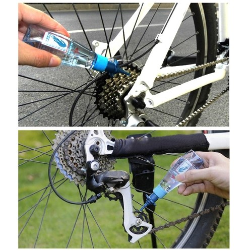 Bicycle Chain Lubricating Oil Mountain Road Image