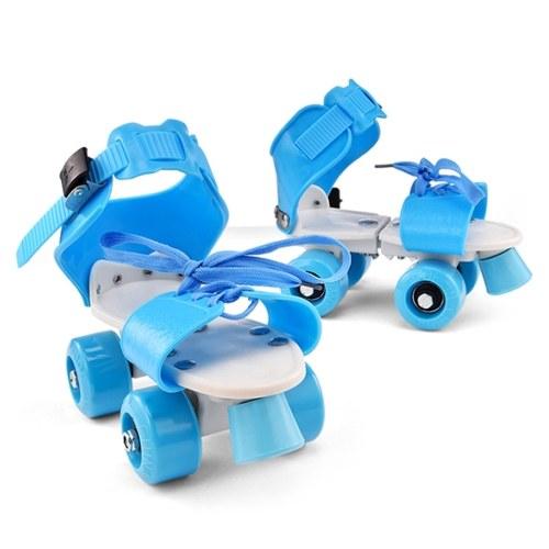 Patins infantis de tamanho ajustável Patins de duas fileiras Patins de rodas duplas para iniciantes meninas meninos