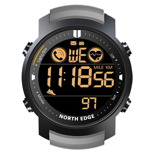 NORTH EDGE Smart Watch Männer Herzfrequenzmesser