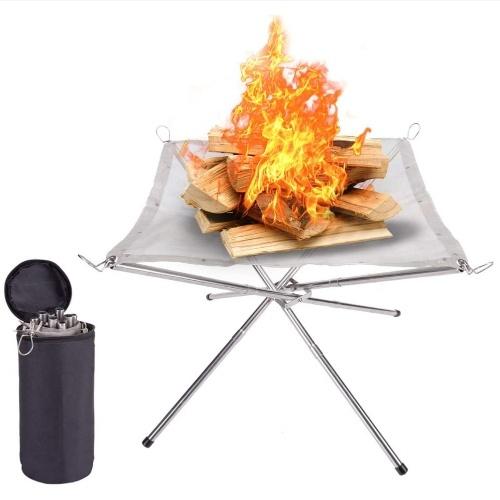 Кемпинг костровая стойка для костра задний двор отопительная сетка костровая стойка складная дровяная печь стойка рама для костра