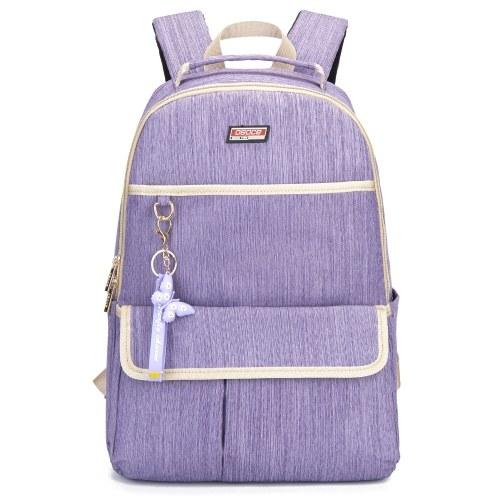 Damenrucksack mit Schlüsselhalter Laptop-Umhängetasche für College-Reise