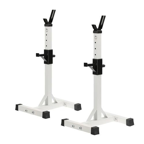 Пара Регулируемая Standard Solid Steel Приседания Стойки Съемные Штанга Стойки для Фитнес упражнения Приседания стойку 128 - 148cm