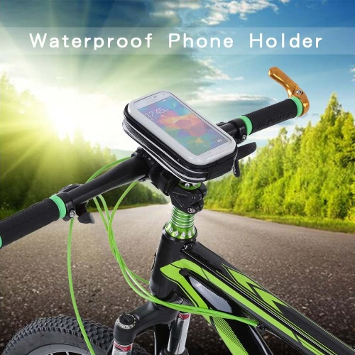 Lixada prueba de lluvia de la motocicleta de la bicicleta del montaje del manillar titular caso para 4 teléfonos celulares