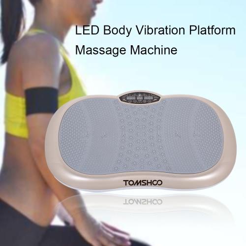 TOMSHOO Touchscreen LCD Körper Vibrationsplattform Fitness