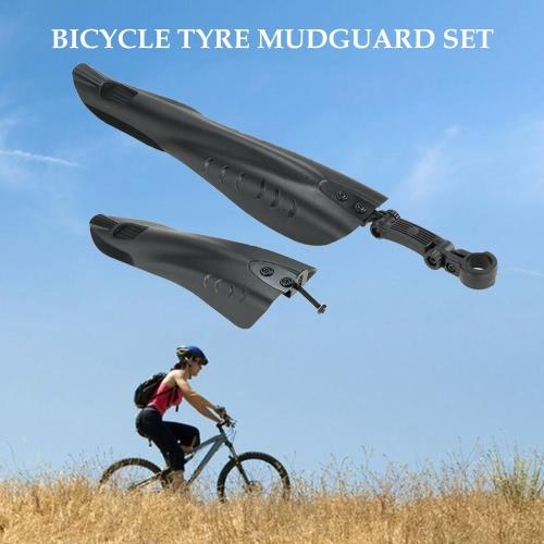 Lodo Montaña Ruta bicicleta Ciclo neumático delantero trasero Guardabarros Deflector Conjunto