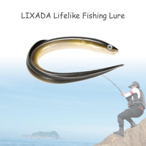 Lixada 1Pc 29.5cm / 59g Simulación Fihsing el señuelo de la nadada de la anguila artificial suave de los trastos del cebo del señuelo realista Olor