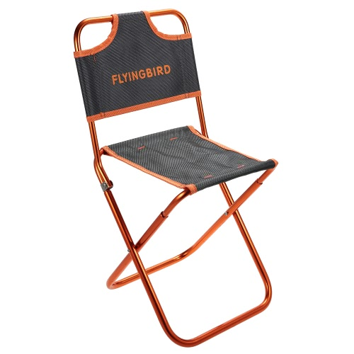 Tragbare Klappstuhl im Freien Angeln Camping Strand-Picknick-Grill-Stuhl Leichte faltbare Stuhl mit Rückenlehne