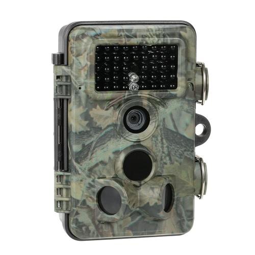 12MP 1080P HD игры и Trail Охота камера с Промежуток времени 65ft 120 ° широкоугольный инфракрасного ночного видения 42pcs 940nm ИК-светодиодов Скаутинг фотокамеры Цифровые видеокамеры наблюдения