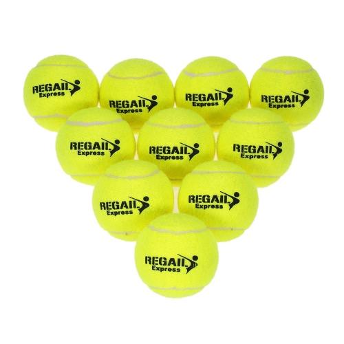 10pcs / мешок тенниса Обучение Бал практика высокой эластичностью Обучение Прочный теннисный мяч Обучение Мячи для начинающих конкуренции фото