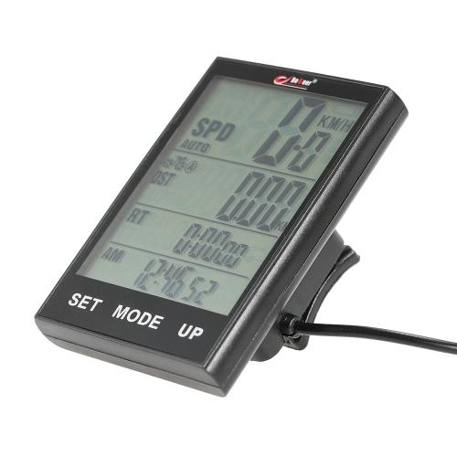 Велокомпьютер велосипед спидометр одометр температуры Подсветка водостойкой для Велоспорт езда Мульти функции