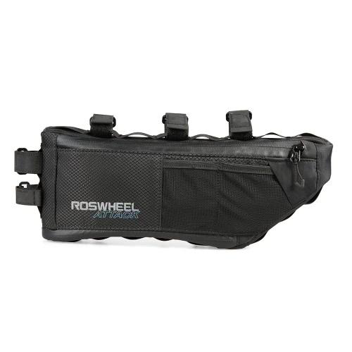 Sacchetto di bicicletta di ROSWHEEL sacchetto del sacchetto del sacchetto del triangolo del tubo della parte anteriore della bici dell'acqua 3L + 1L