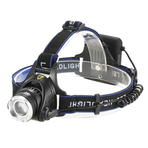 3 Modi 1200 Lumen Scheinwerfer Scheinwerfer Einstellbare Zoom Kopf Licht Lampe