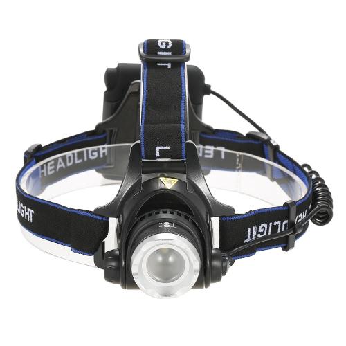 3 Modos 1200 Lumens Lámpara de faros Lámpara de luz de cabeza de zoom ajustable