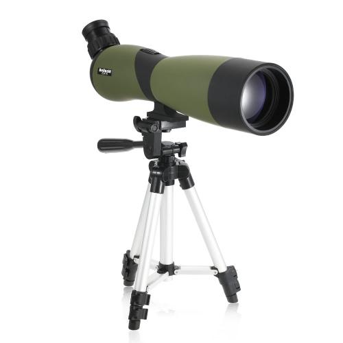 20x70 Ángulo Spotting Ámbito BaK4 Impermeable Fogproof portátiles viaje Ámbito Monocular Telescopio con Trípode llevar caso para la observación de aves Camping Backpacking