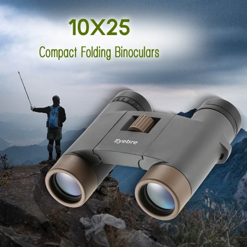 10x25 Compact Folding Binocular Travel Hiking Bird Watching Adults Kids Binocular Telescope thumbnail