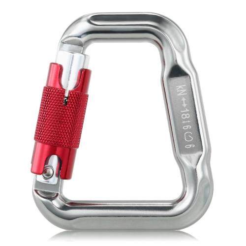 Lixada Outdoor Sicherheit Klettern Ausrüstung Master Haken 18KN Paragliding Gleitschirm Fallschirm Clip Locking Karabiner