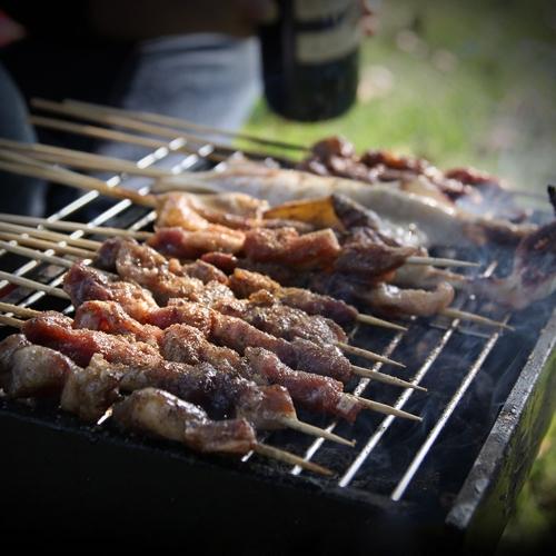 Suporte para churrasco portátil para churrasco ao ar livre ao ar livre