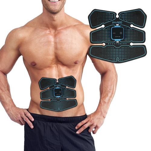 Abdominal Toning Belt AB Muscle Toner Trainer USB Rechargeable Abs Training Fitness Machine Gear para hombres y mujeres