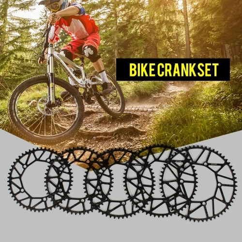 Bike Cycling Bicycle Hollow Chainring Single Crank Wheel Folding Bike Crankwheel Crankset BCD 130MM 5 Holes Crankset 50T / 52T / 54T / 56T / 58T Image