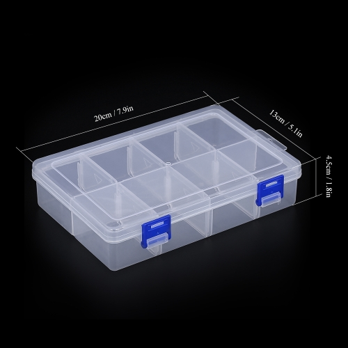 Compartments Fishing Utility Box Lures Swivels Hooks Tackle Box with Adjsutable Dividers Image