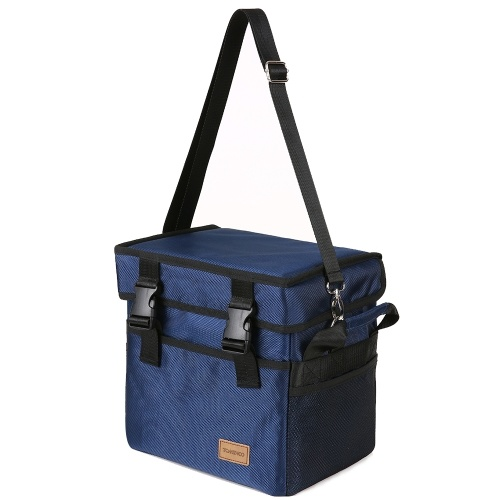 TOMSHOO 10L / 18L / 28L / 37L / 47L / 70L Большая сумка с изоляцией с изоляцией с уникальным дизайном для пряжки Многоразовая складная сумка для прохладного тотатора Портативная сумка для переноски для пикника с доставкой для кемпинга