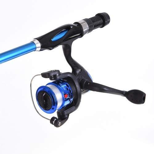 Mulinello da pesca telescopico Blusea canna da pesca Combo Full Kit 1.3m