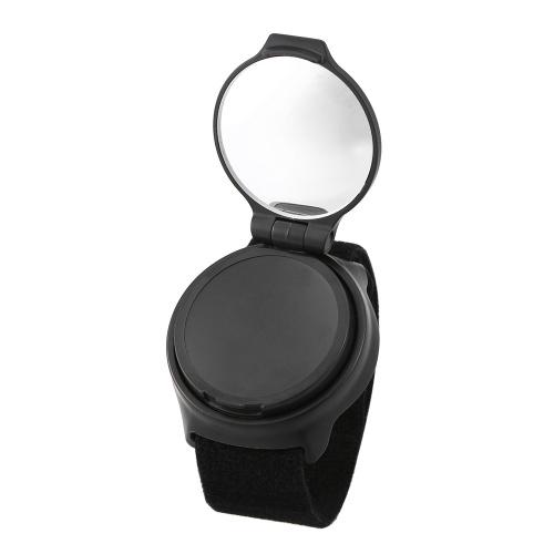 Велоспорт Зеркальный комплект Регулируемая верховая наручная полоса 360 градусов Вращающееся зеркало заднего вида