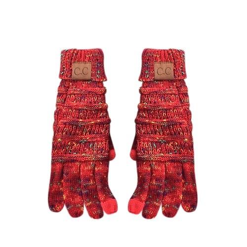 Зимние теплые мягкие трикотажные перчатки Fullfinger CC фото