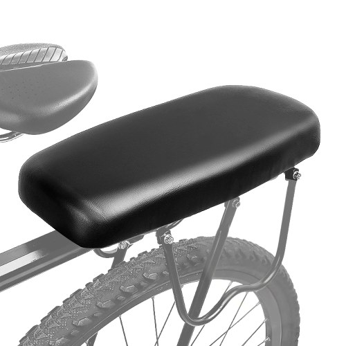 Bicycle Back Seat Cycling MTB Mountain Bicycle PU Leather Soft Comfortable Cushion Bike Rear Rack Seat Children Back Seat Pad Image