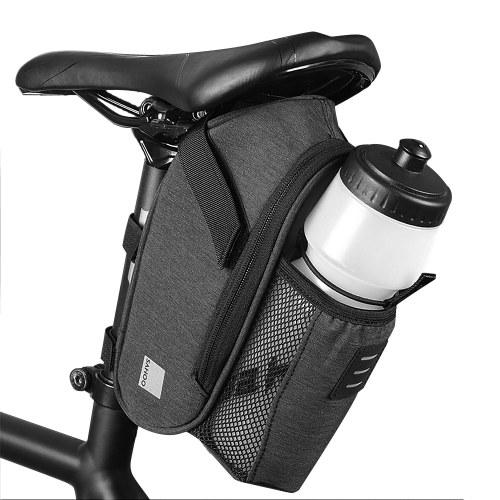 Велосипедная седельная сумка с карманом для бутылки с водой Водонепроницаемая сумка для сиденья велосипеда Светоотражающая велосипедная сумка для задней стойки сиденья с мешком для чайника Большая емкость Задняя сумка для шоссейного велосипеда MTB Сумка для дорожного велосипеда