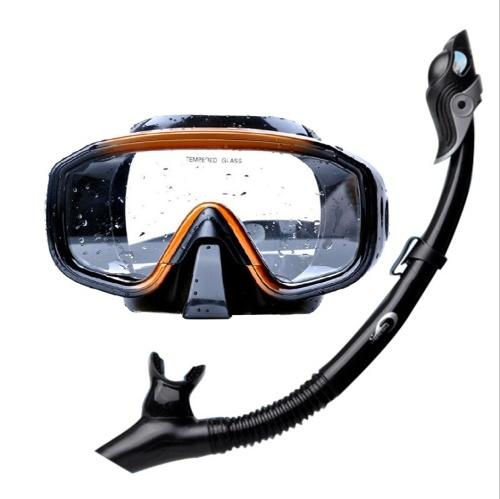Профессиональная силиконовая подводная маска для подводного плавания с маской и трубкой для плавания, дайвинга, снорклинга и снаряжения для подводного плавания фото