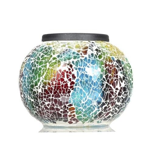 Многоцветный светодиодный свет, изменяющий солнечную энергию Мозаика стеклянный шар