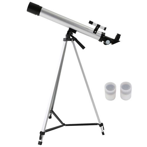 Открытый 100X зум телескоп 600x50mm преломляющий космический астрономический телескоп монокуляр путешествия зрительная труба с треногой