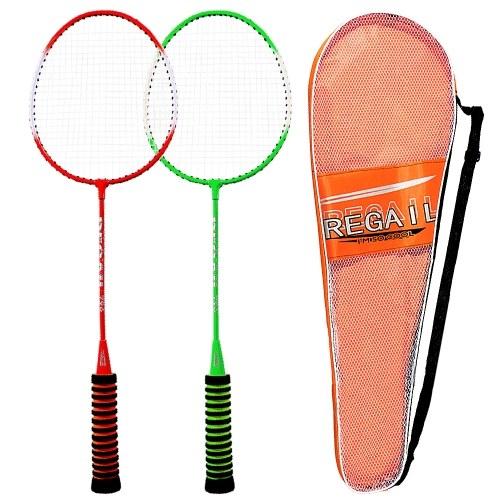 1 paio di racchette da badminton spugna alta elastica con sparo da racchetta da badminton di alta qualità