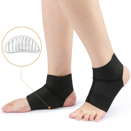 1 Pair Compression Arch Support Brace with Gel Ankle Protector Compression Flat Foot Socks with Gel Inserts Insole Cushion for Ankle Arch Pain Relief