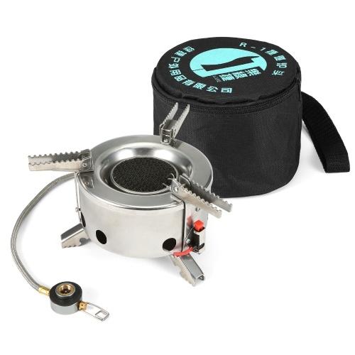 6000 Вт кемпинговая газовая плита, ветрозащитная складная походная плита для походов на открытом воздухе с пьезо зажиганием
