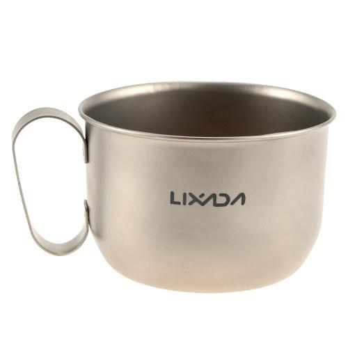 Lixada100% Титан кружку Открытый сверхлегкий портативный кемпинг пикник воды Кубок 550 мл