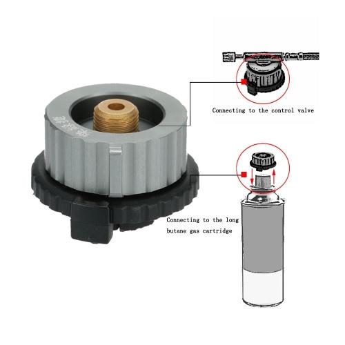 Outdoor Campeggio fornello testa di conversione conversione adattatore ugello Gas bottiglia vite per cartuccia Gas butano lungo